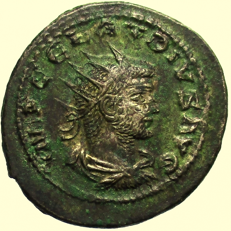 obverse: Impero Romano Claudio II il Gotico. 268-270 d.C. Antoniniano.