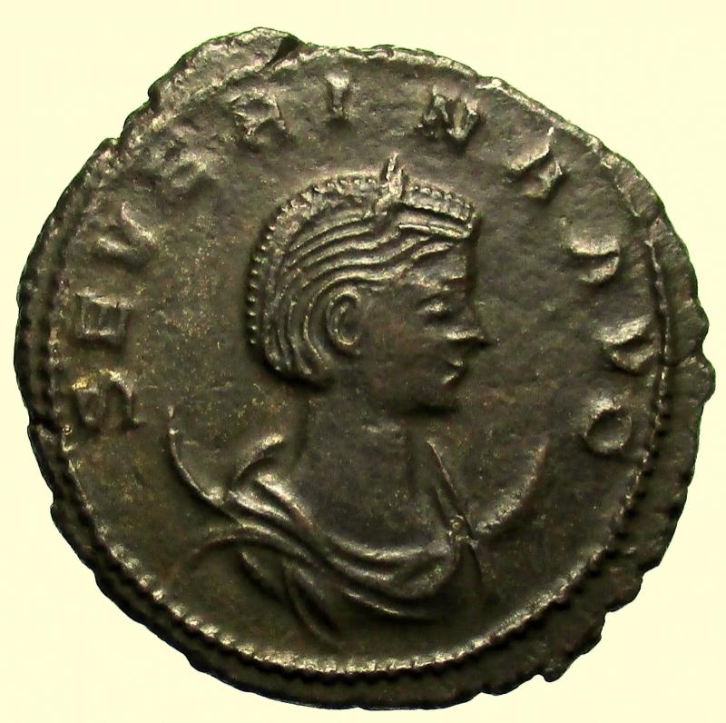 obverse: Impero Romano. Severina, moglie di Aureliano. Deceduta nel 275 d.C Antoniniano