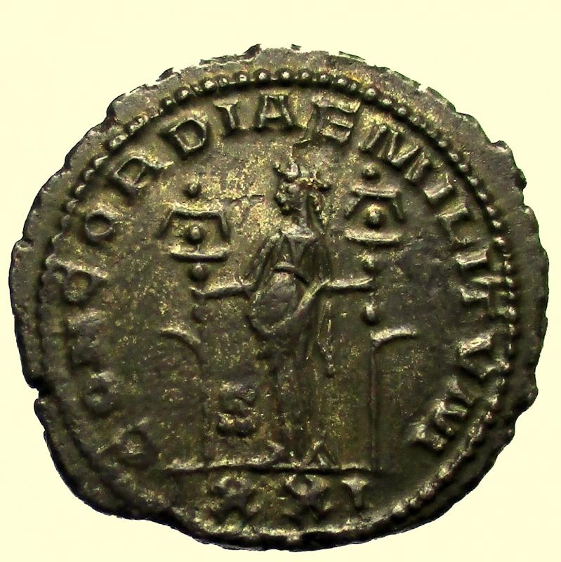 reverse: Impero Romano. Severina, moglie di Aureliano. Deceduta nel 275 d.C Antoniniano