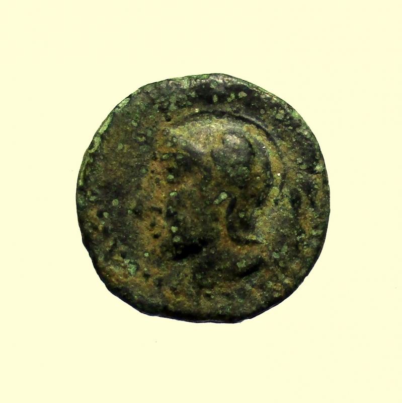 obverse:   Mondo Greco. Sicilia. Kamarina. 413-405 a.C. Tetras Ae