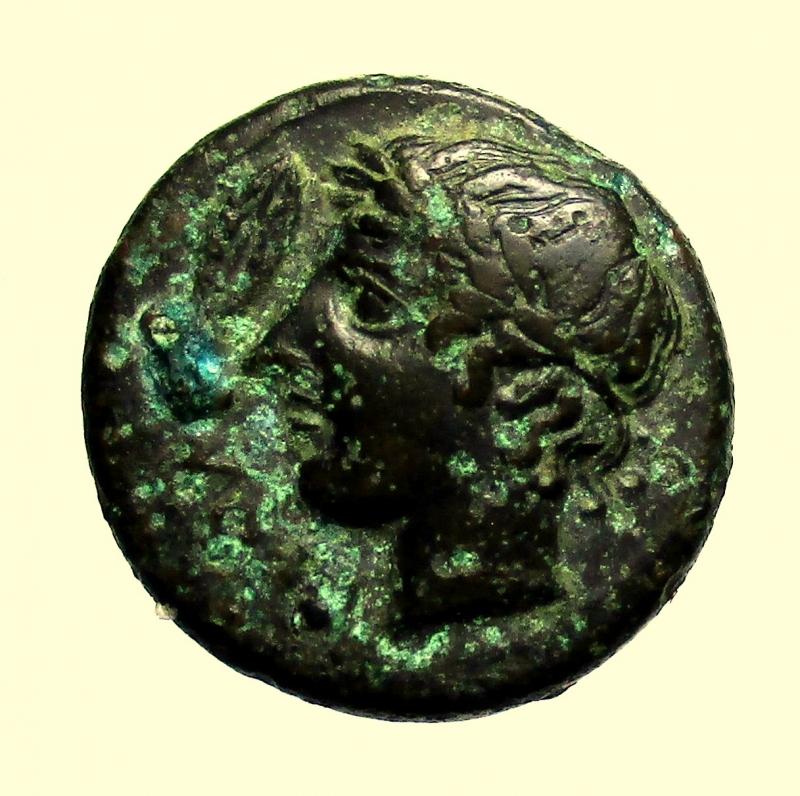 obverse: Mondo Greco. Sicilia. Leontini. 405-402 a.C.