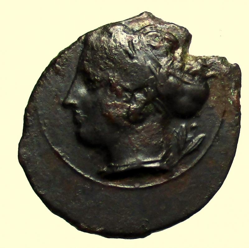 obverse: Mondo Greco. Sicilia. Siracusa. 400 a.C. Hemilitra.