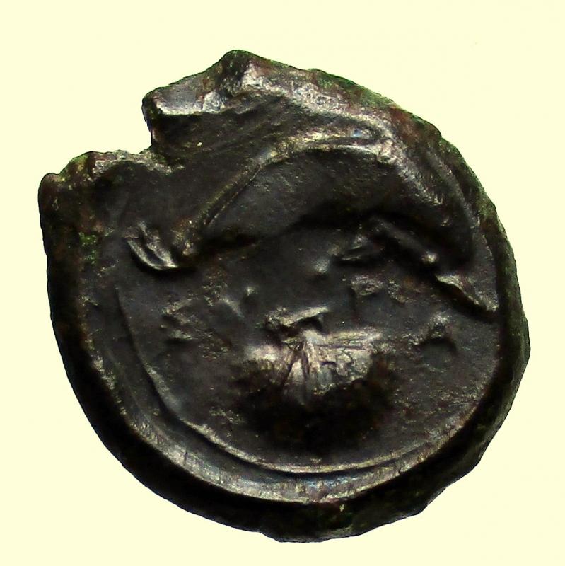 reverse: Mondo Greco. Sicilia. Siracusa. 400 a.C. Hemilitra.