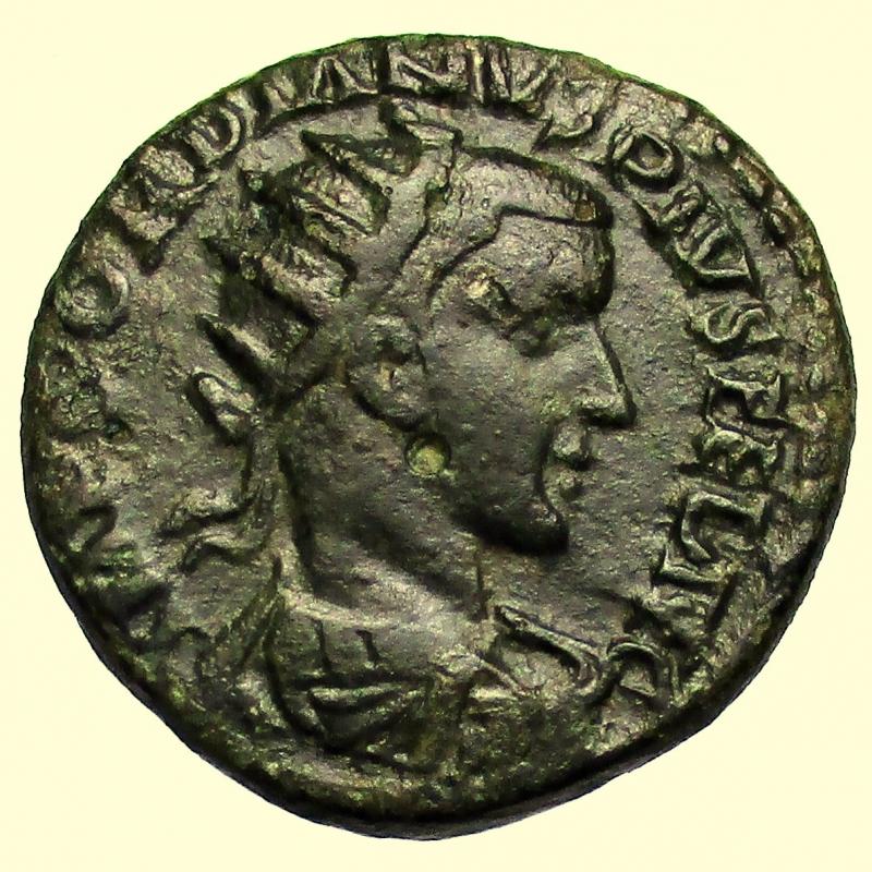 obverse: Provincia Romana. Viminacium. Gordiano III. 238-244 d.C.