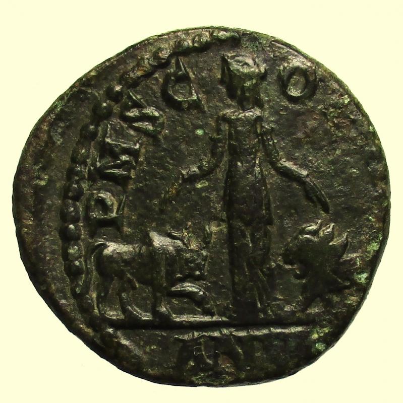 reverse: Provincia Romana. Viminacium. Gordiano III. 238-244 d.C.