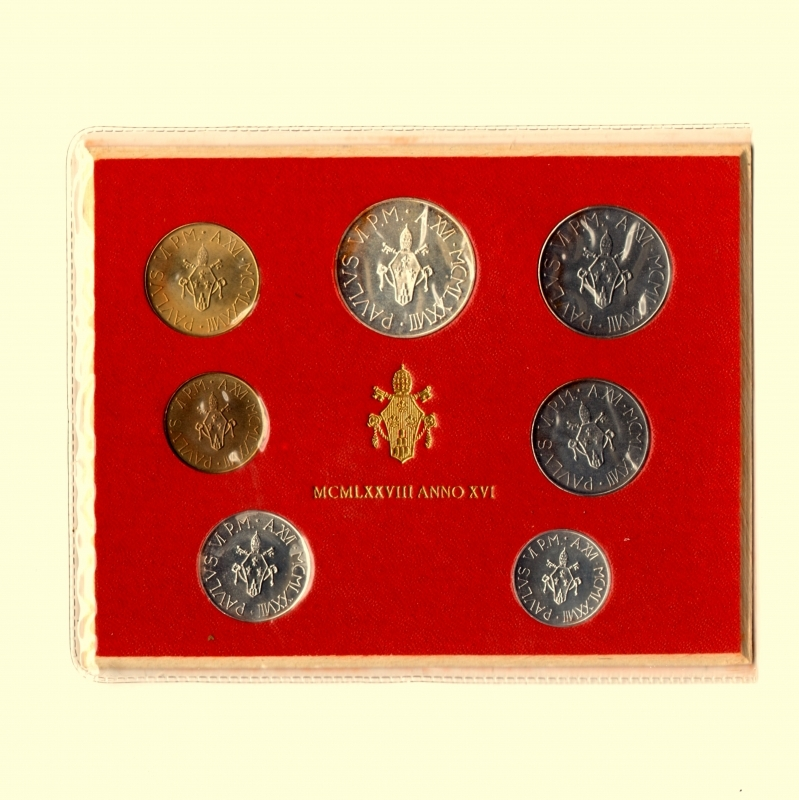 obverse: Vaticano. Paolo VI. 1963-1978. Serie divisionale