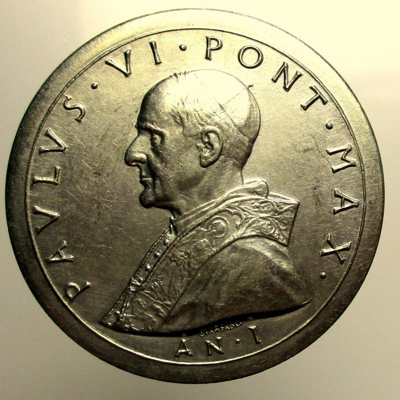 obverse: Paolo VI (Giovanni Battista Montini), 1963-1978. Medaglia 1963