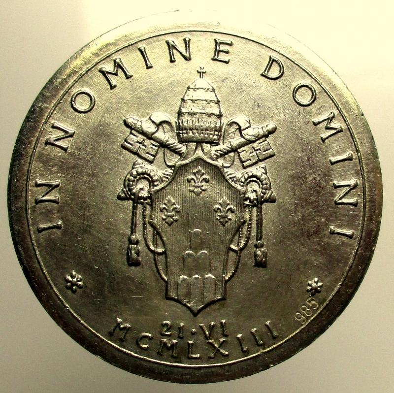 reverse: Paolo VI (Giovanni Battista Montini), 1963-1978. Medaglia 1963