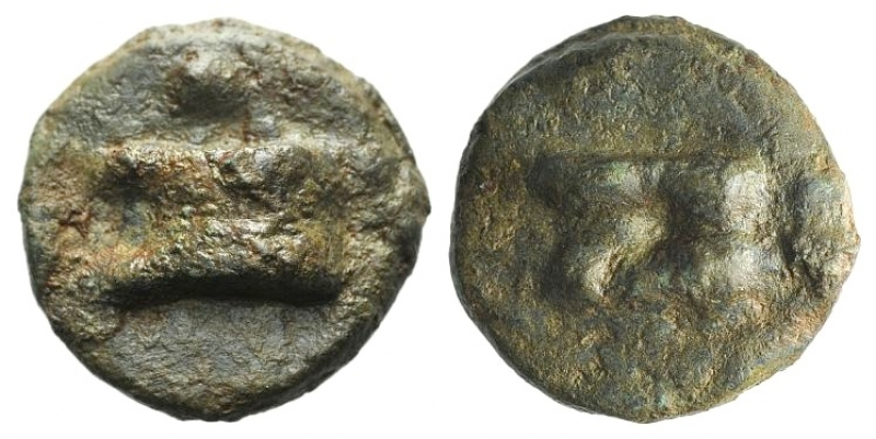 obverse: Repubblica Romana. Serie anonima. Oncia 265 a.C.