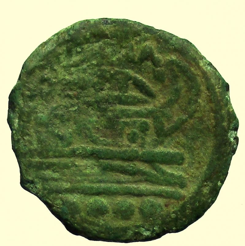reverse: Repubblica Romana  post-semilibrali (215-211 a.C.) Triente