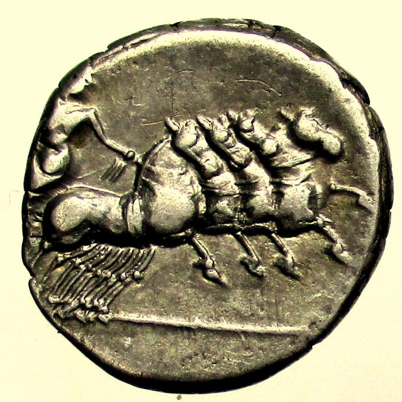reverse: Repubblica Romana. 86 a.C. Denario Anonimo. Ag.