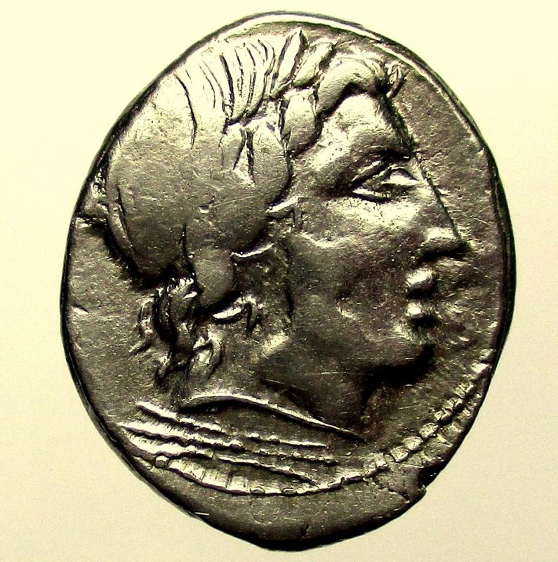 obverse: Repubblica Romana. 86 a.C. Denario Anonimo. Ag.