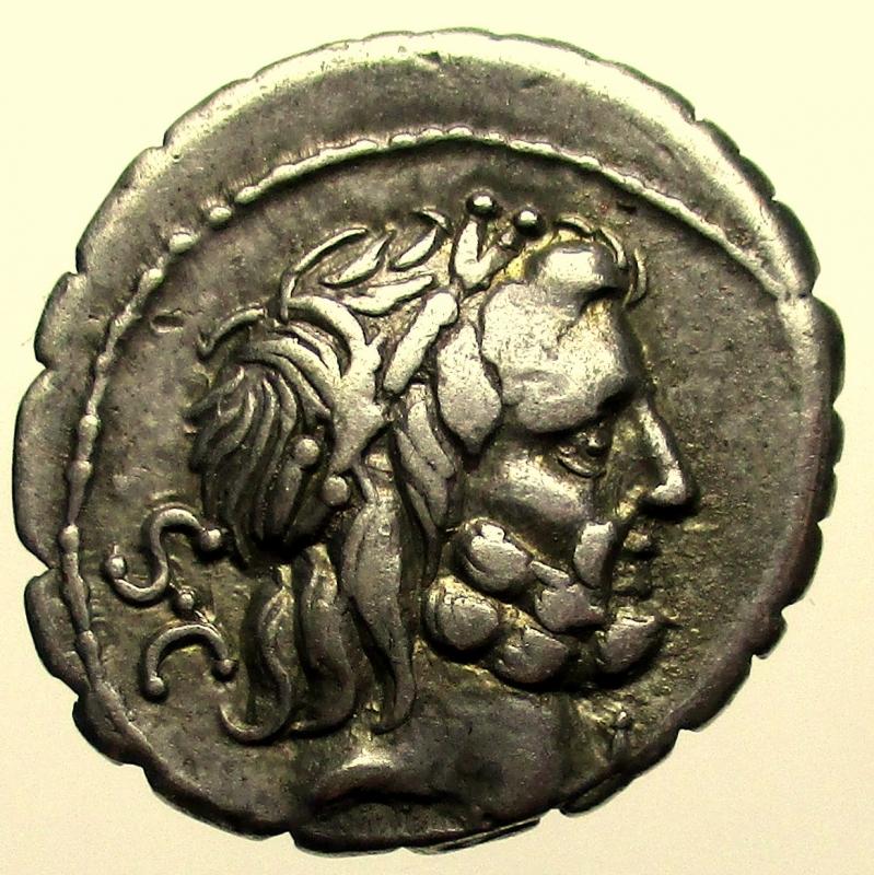 obverse: Repubblica Romana. Gens Antonia. Quintus Antonius Balbus. 83-82 a.C. Denario.