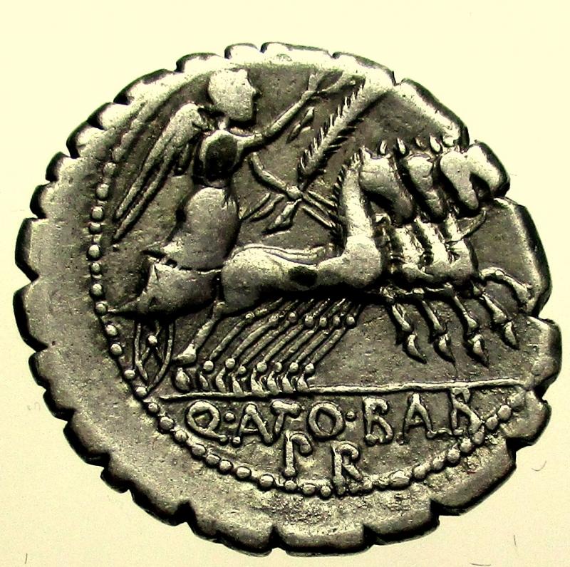 reverse: Repubblica Romana. Gens Antonia. Quintus Antonius Balbus. 83-82 a.C. Denario.