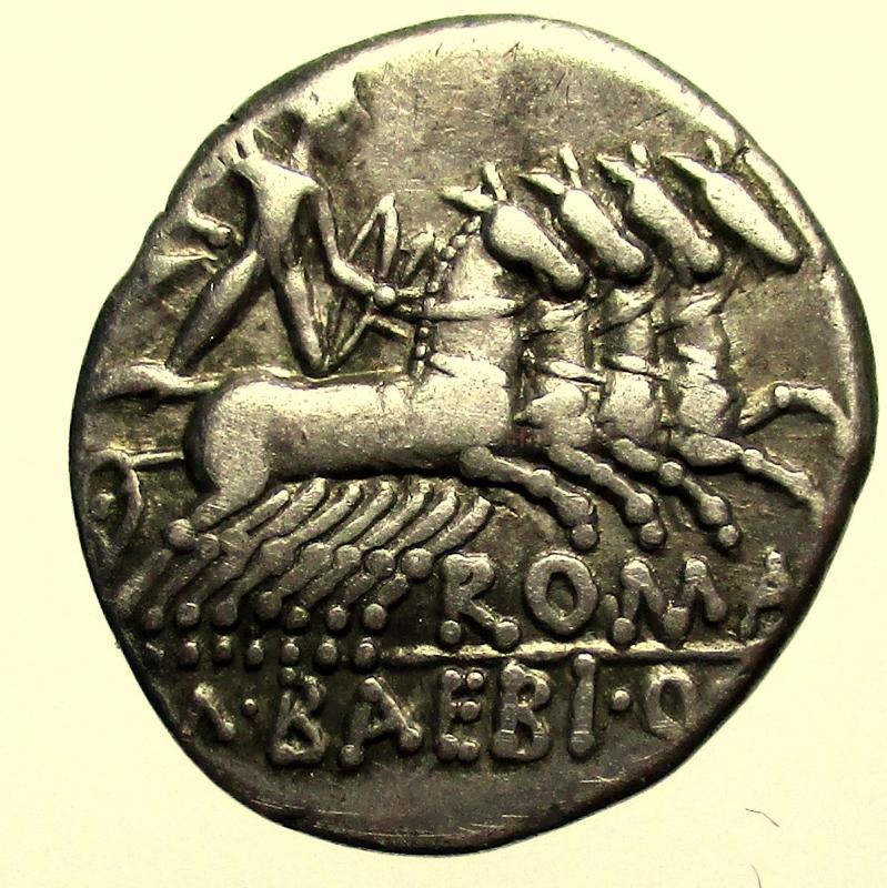 reverse: Repubblica Romana. Gens Baebia. Marcus Baebius Quinti Filius Tampilus. 137 a.C. Denario.