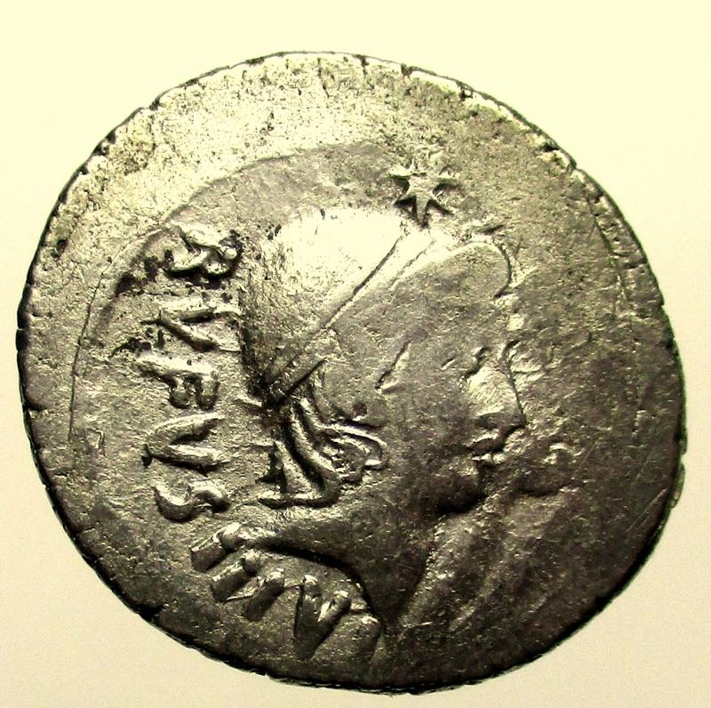 obverse: Repubblica Romana. Mn. Cordius Rufus, Denario, Roma, 46 a.C.
