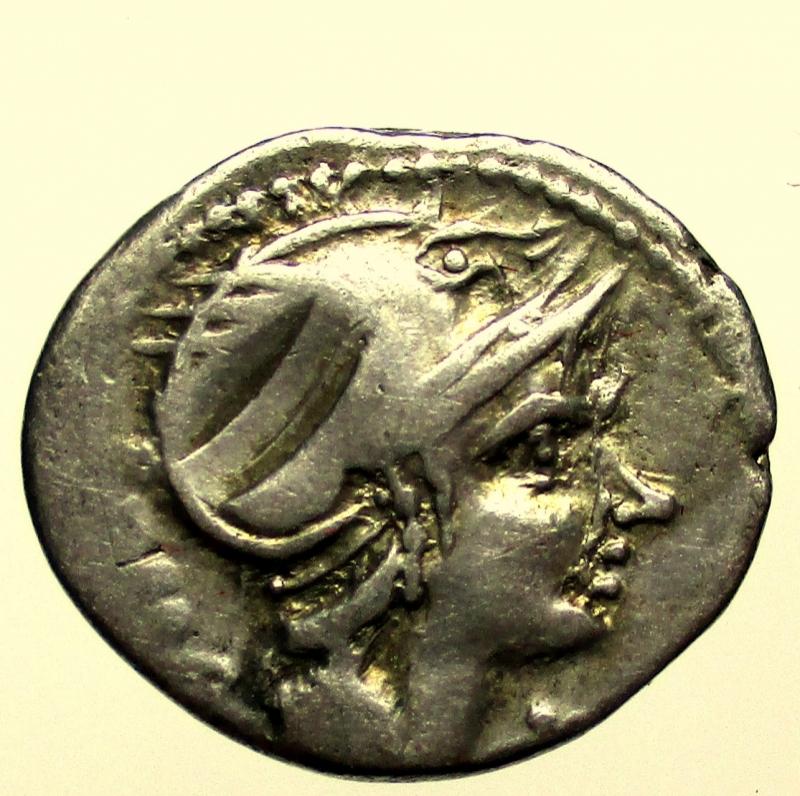 obverse: Repubblica Romana. Gens Flaminia. Lucius Flaminius Chilo. 109-108 a.C. Denario. Ag.