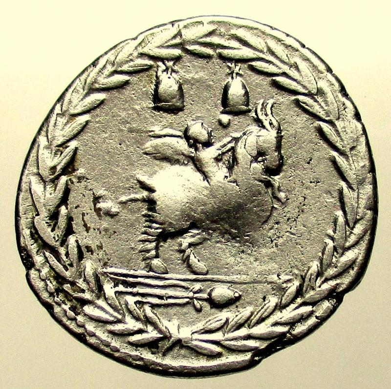 reverse: Repubblica Romana. Gens Fonteia. Mn. Fonteius. ca 85 a.C. Denario.