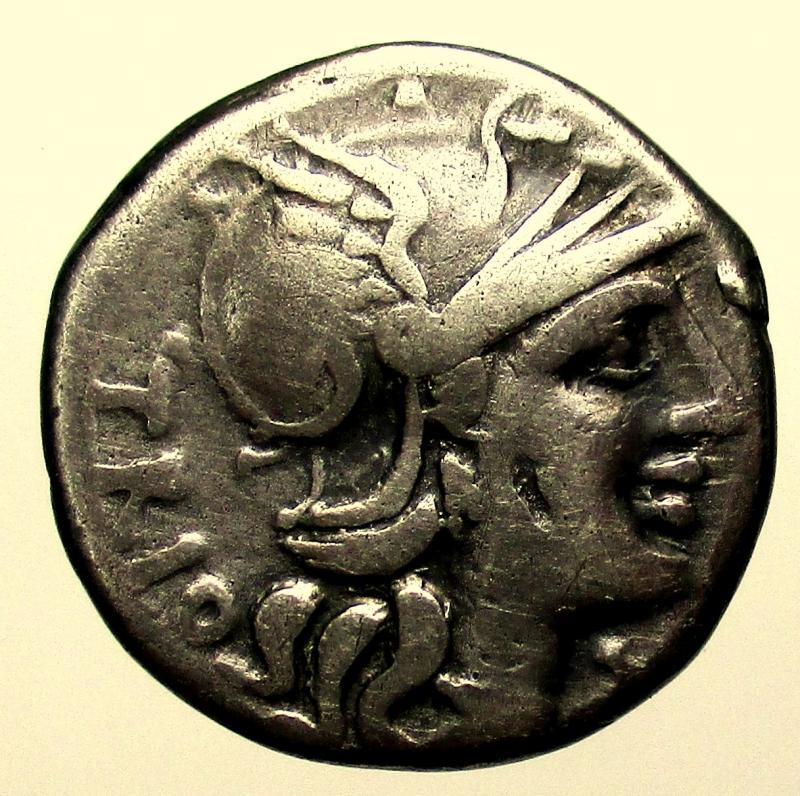 obverse: Repubblica Romana. Lucretia L. Lucretius Trio (76 a. C.) . Denario.