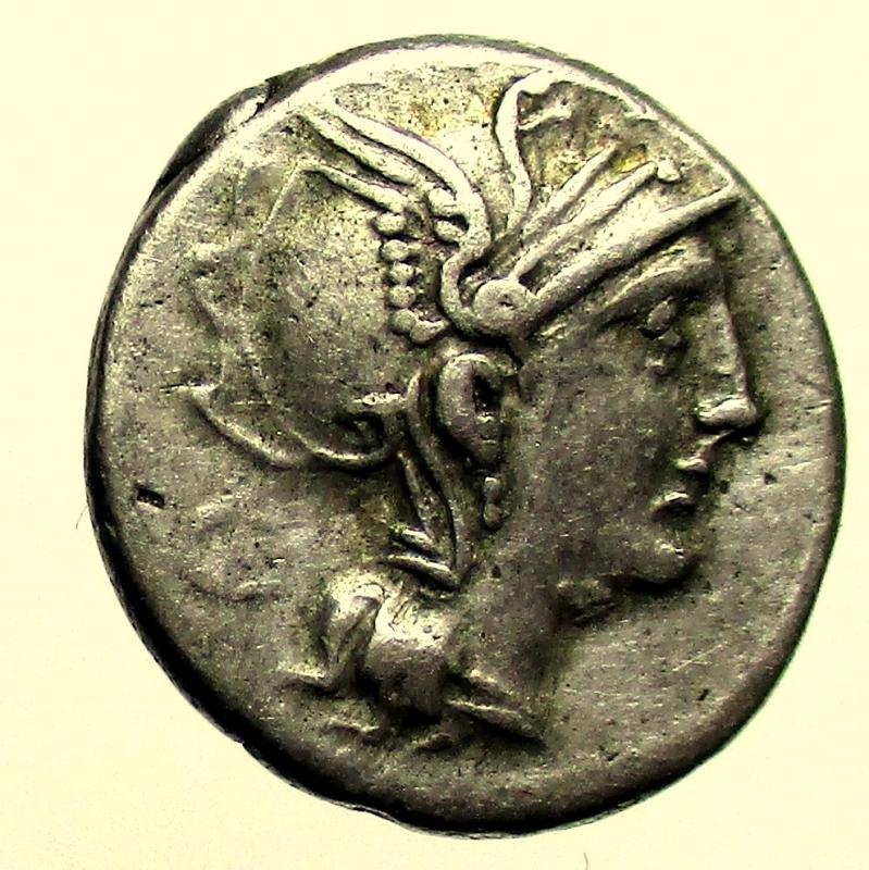 obverse: Repubblica Romana. T. Mallius Mancinus Denario