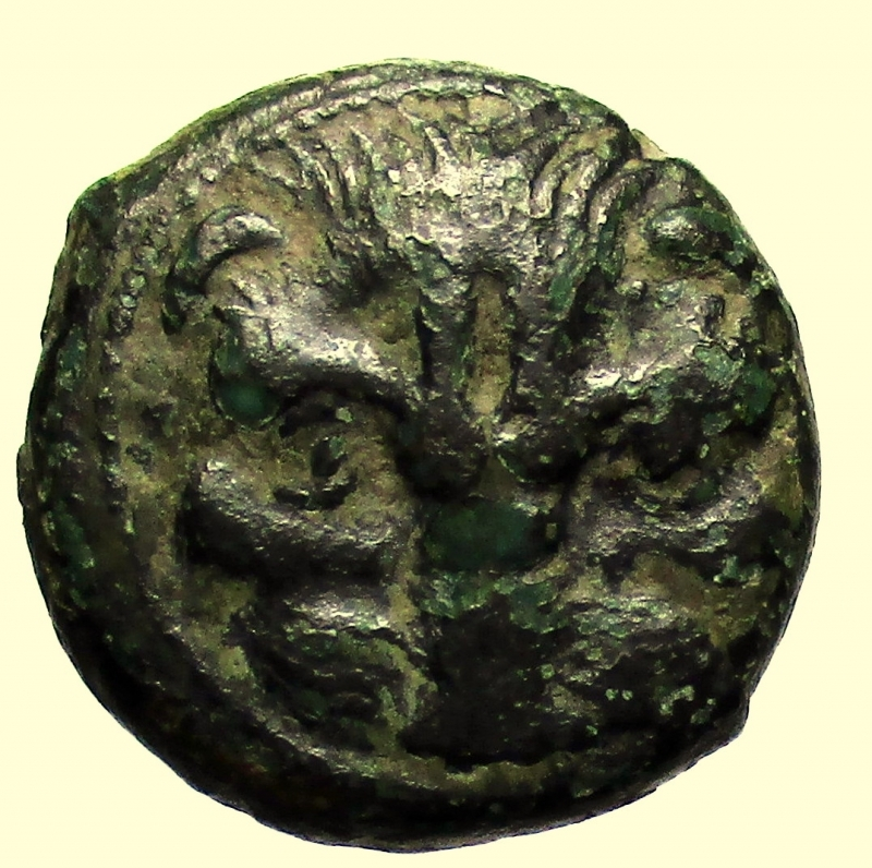 obverse: Mondo Greco. Rhegion, Bruttium 415-387 a.C. Emiobolo