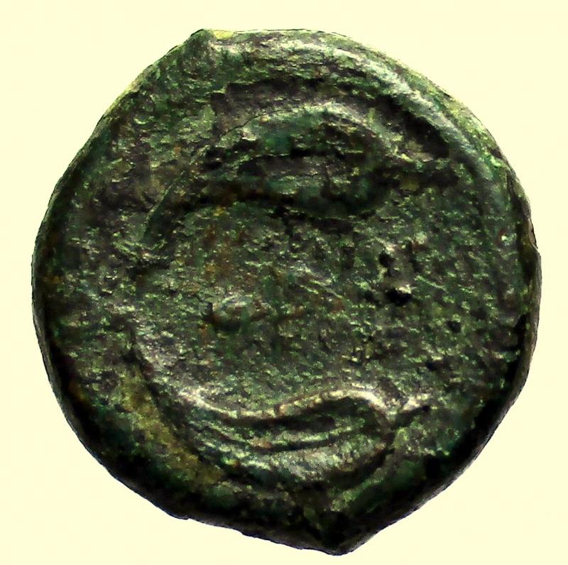 reverse: Mondo Greco. Rhegion, Bruttium 415-387 a.C. Emiobolo
