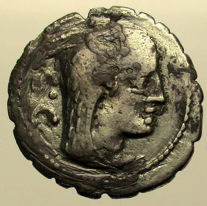 obverse: Repubblica Romana. Gens Procilia. Lucius Procilius. 80 a.C. Denario.