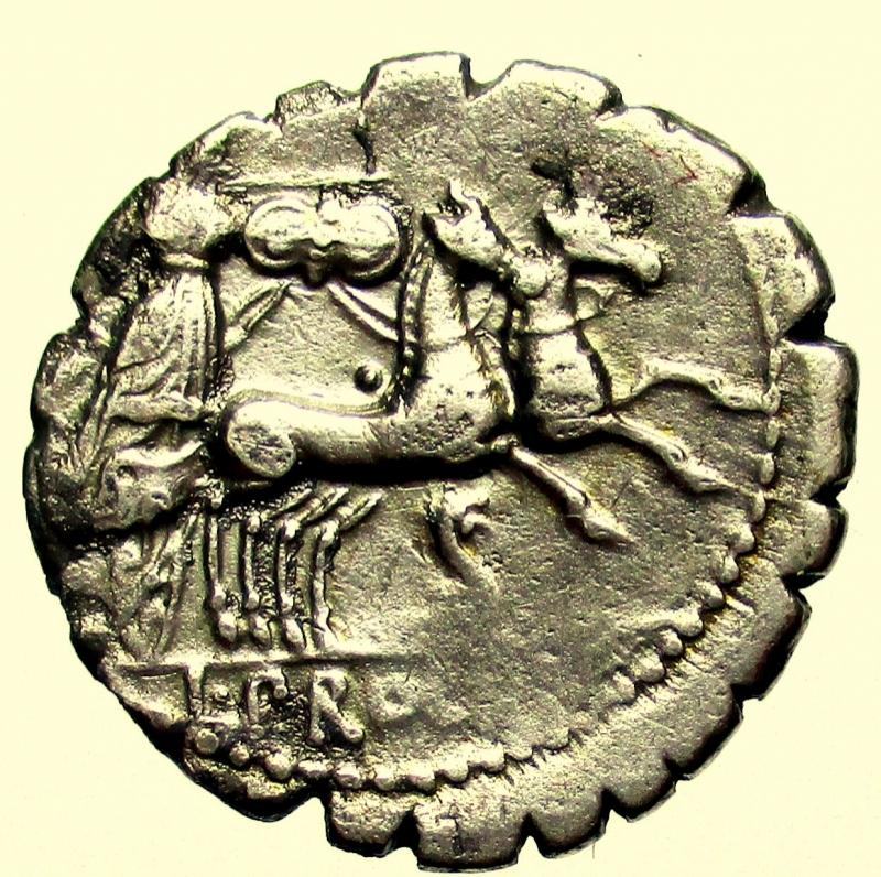reverse: Repubblica Romana. Gens Procilia. Lucius Procilius. 80 a.C. Denario.