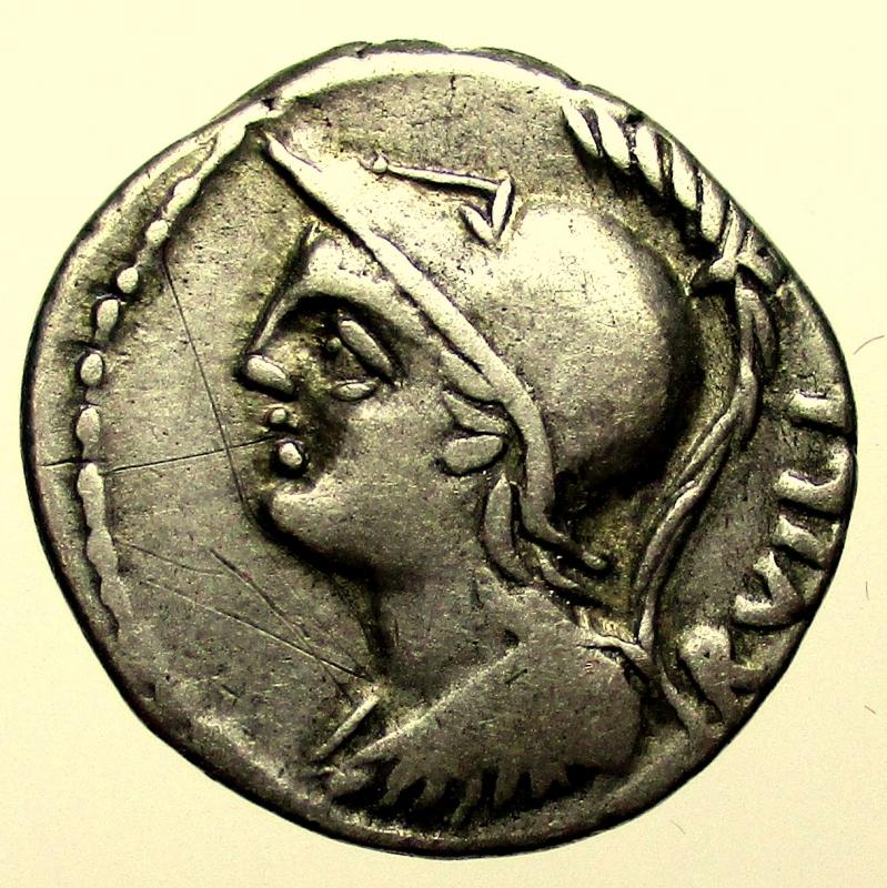 obverse: Repubblica Romana. Gens Servilia. Publius Servilius Rullus. 100 a.C. Denario.