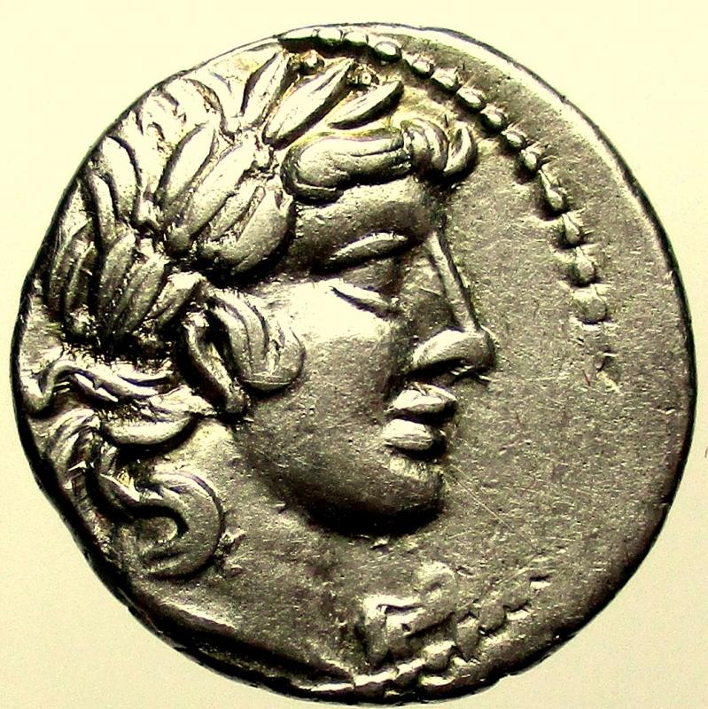 obverse: Repubblica Romana. Gens Vibia. Caius Vibius Pansa. 90 a.C. Denario.