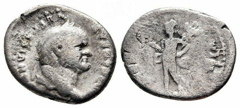 obverse: Impero Romano. Vespasiano 69-79 d.C. Denario