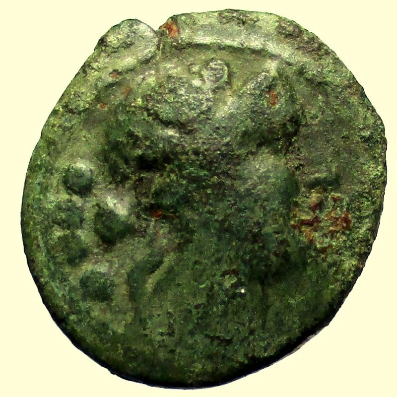 obverse: Mondo Greco. Lucania. Paestum. 218-201 a.C. Triente.