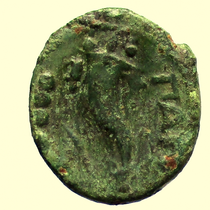 reverse: Mondo Greco. Lucania. Paestum. 218-201 a.C. Triente.