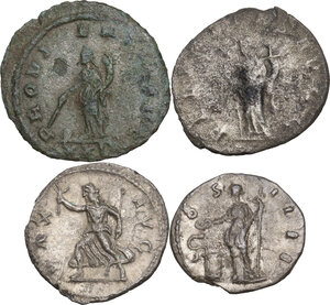 reverse: The Roman Empire.. Multiple lot of four (4) unclassified coins