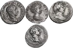 obverse: The Roman Empire.. Multiple lot of four (4) unclassified AR Denarii