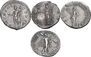 reverse: The Roman Empire.. Multiple lot of four (4) unclassified AR Denarii