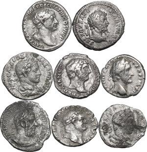 obverse: The Roman Empire. Multiple lot of eight (8) unclassified AR Denarii