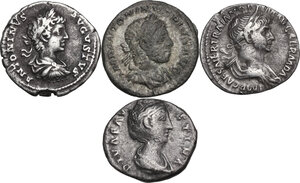 obverse: The Roman Empire.. Multiple lot of four (4) unclassified coins