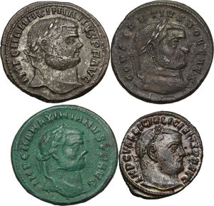 obverse: The Roman Empire. Lot of four (4) unclassified AE Folles