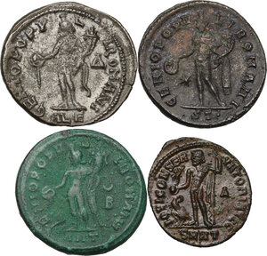 reverse: The Roman Empire. Lot of four (4) unclassified AE Folles