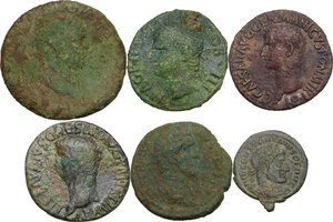 obverse: The Roman Empire.. Multiple lot of six (6) unclassified AE coins