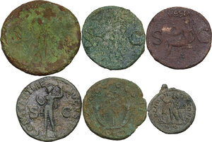 reverse: The Roman Empire.. Multiple lot of six (6) unclassified AE coins