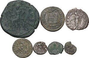reverse: The Roman Empire.. Multiple lot of seven (7) unclassified coins: including Valentinian III and Leo I
