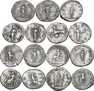 reverse: The Roman Empire.. Multiple lot of fifteen (15) unclassified Denarii