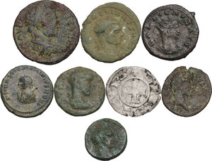obverse: The Roman Empire.. Multiple lot of seven (7) unclassified AE coins