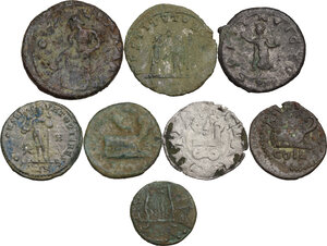 reverse: The Roman Empire.. Multiple lot of seven (7) unclassified AE coins