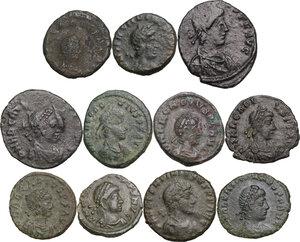 obverse: The Roman Empire.. Multiple lot of eleven (11) AE coins. Late Empire