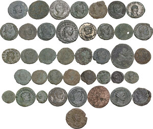 obverse: The Roman Empire.. Multiple lot of fourty (40) unclassified AE coins