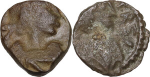 obverse: Barbaric Imitative Coinage.. Lot of two (2) unclassified AE coins