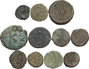 reverse: The Barbaric World and the Byzantine Empire.. Interesting multiple lot of eleven (11) unclassified AE Fractions
